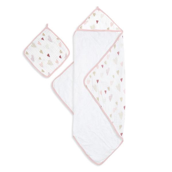 Aden + Anais Hooded Towel & Washcloth Set