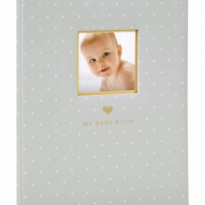 Pearhead Sweet Welcome Baby Book Grey