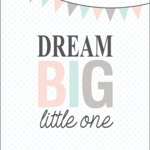Ginger Monkey Dream Big Little One Print
