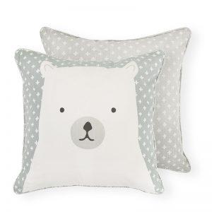 Madras Link Polar Bear Cushion