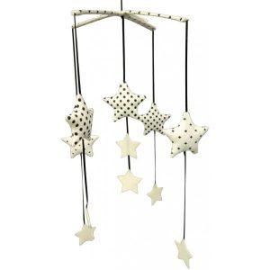 Alimrose Falling Star Mobile Black Ivory