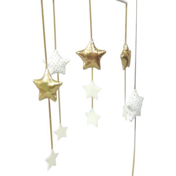 Alimrose Falling Star Mobile Gold Ivory