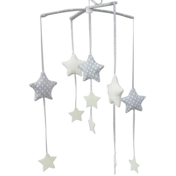Alimrose Falling Star Mobile Grey Ivory