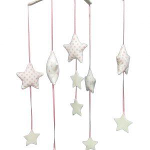 Alimrose Falling Star Mobile Pink Ivory