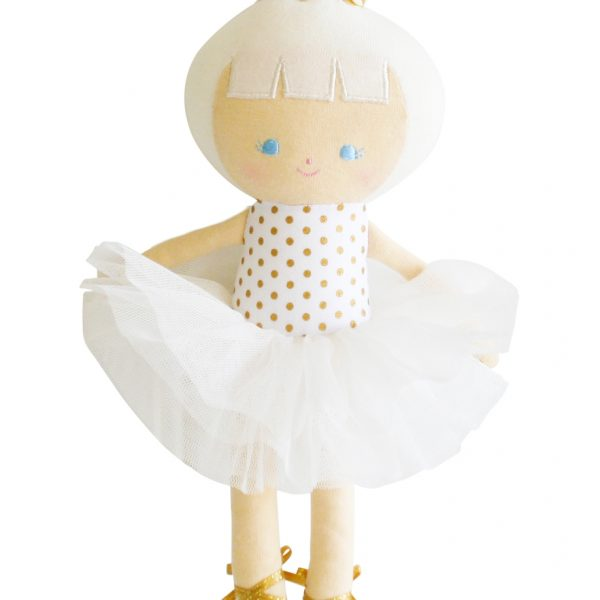 Alimrose Gold Baby Ballerina Doll