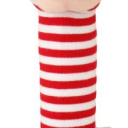 Alimrose Hand Squeakers Monkey Red Stripe