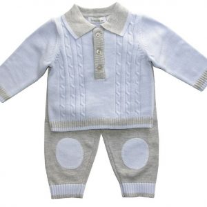 Beanstork Light Blue & Grey Knit Set