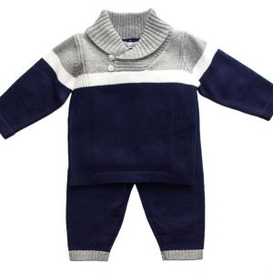 Beanstork Navy & Grey Knit Set