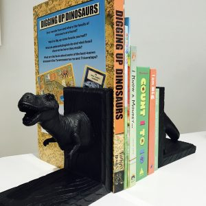 White Moose Dinosaur Bookends