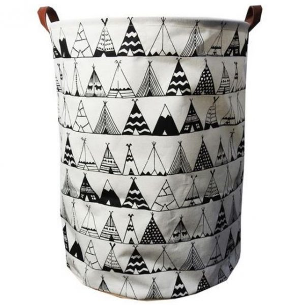 Teepee Canvas Storage Basket