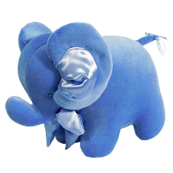 Kate Finn Blue Velvet Elephant