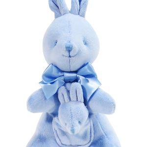 Kate Finn Blue Velvet Kangaroo