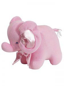 Kate Finn Pink Velvet Elephant