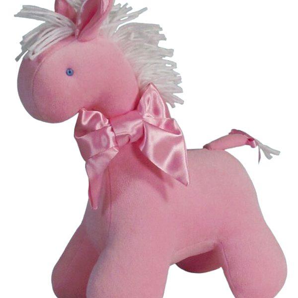 Kate Finn Pink Velvet Horse