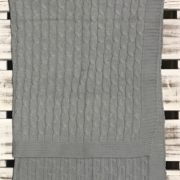 Essence Grey Cable Knit Blanket