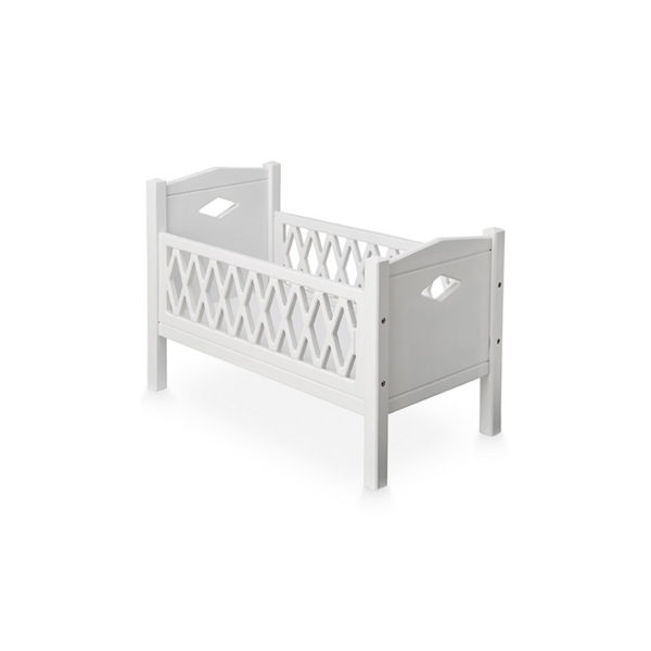 Cam Cam White Harlequin Doll's Bed and Mattress