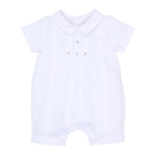 Bebe Special Occasion White Woven Romper