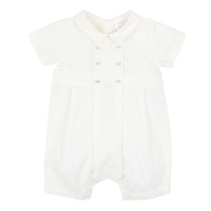 Bebe Special Occasion Ivory Woven Romper