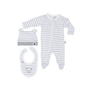 hux grey stripe gift set