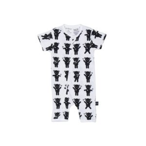 hux lolly bear short zip romper