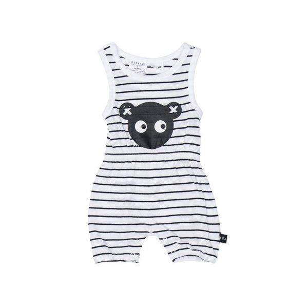 hux stripe bear playsuit