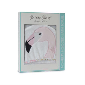 Bubba Blue Flamingo Novelty Hooded Towel