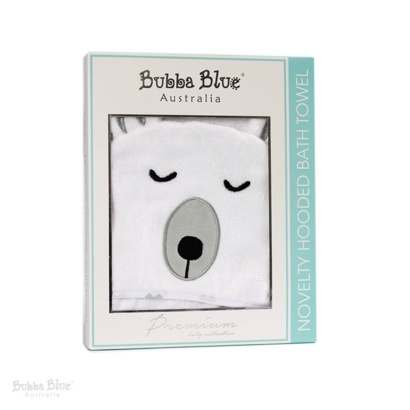 Bubba Blue Polar Bear Novelty Hooded Towel