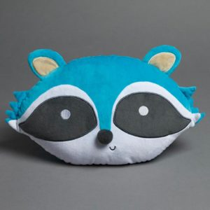 Jiggle and Giggle Novelty Raccoon Cushion