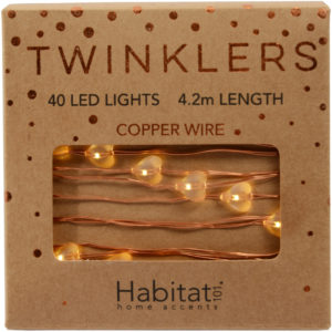 Habitat Copper Hearts Twinklers