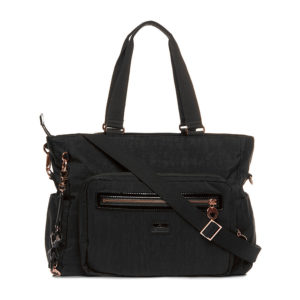 Il Tutto Layla Black and Rose Gold Tote Nappy Bag