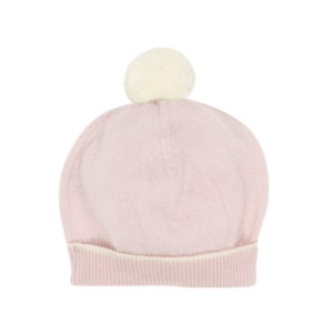 Bebe Pink Marle Cashmere Knit Beanie
