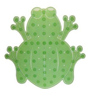 Star & Rose No Slip & Slide Frog Bath Mat