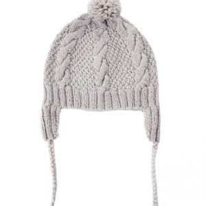 Acorn Cable Knit Beanie