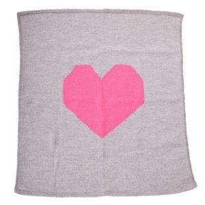 Acorn Heart Merino Wool Blanket