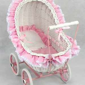 Isabella Wicker Play Pram Small