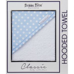 Bubba Blue Polka Dots Hooded Towel