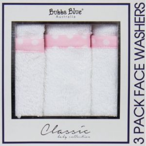 Bubba Blue Polka Dots Face Washers