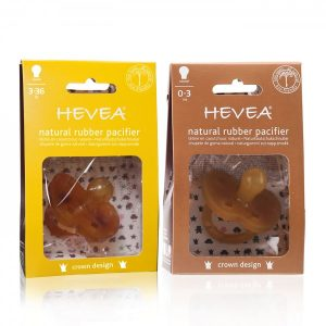 Hevea Crown Natural Rubber Pacifier