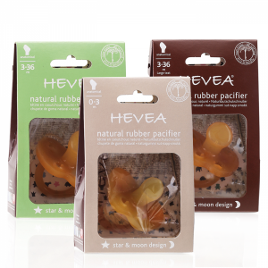 Hevea Star & Moon Natural Rubber Pacifier