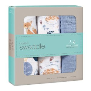 Aden + Anais Organic Muslin Into The Woods Swaddles