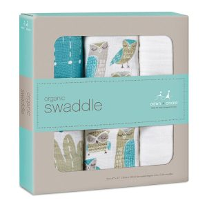 Aden + Anais Organic Muslin Wise Guys Swaddles