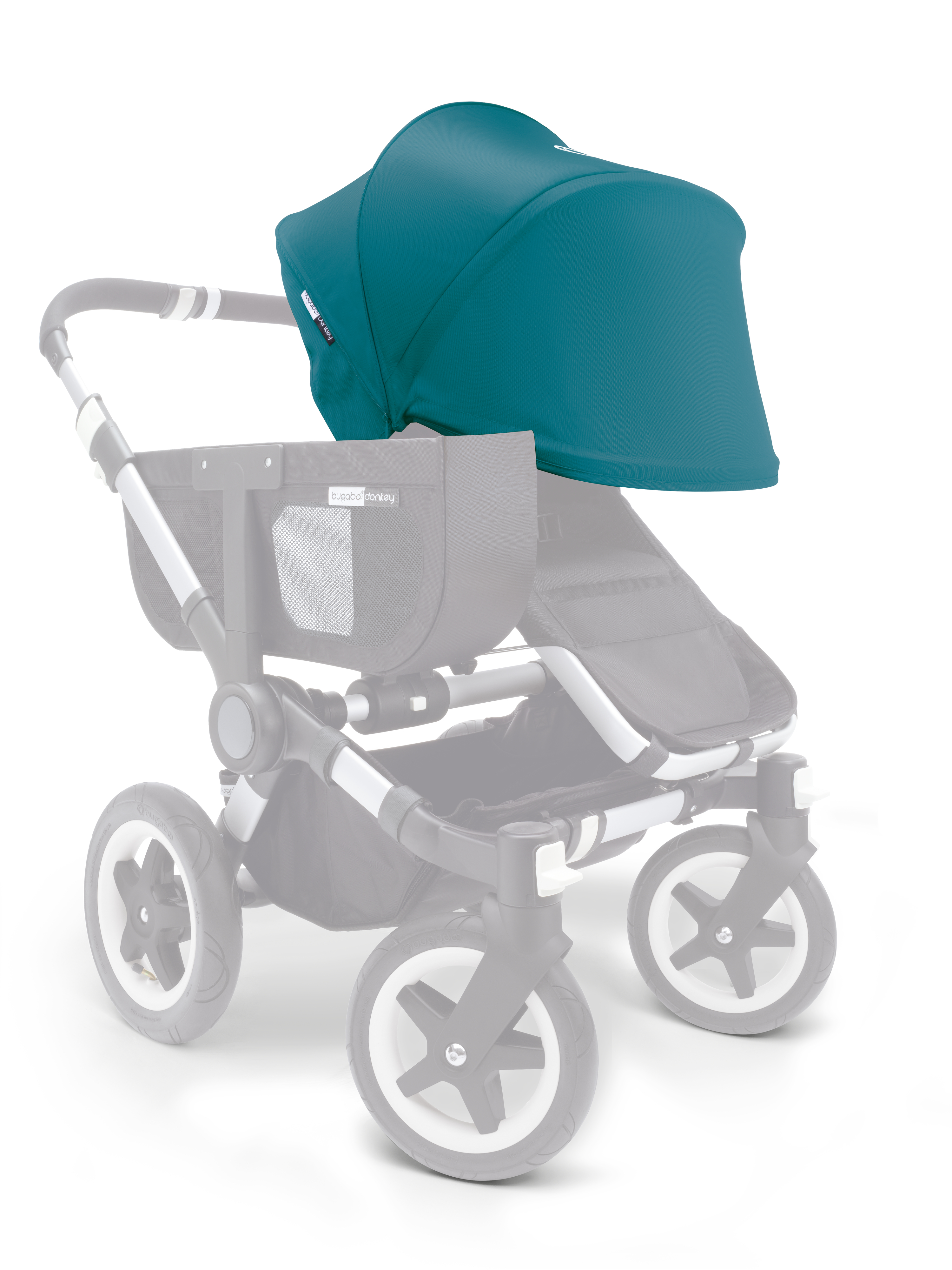 bugaboo donkey duo extension kit 2nd seat aluminium. Black Bedroom Furniture Sets. Home Design Ideas