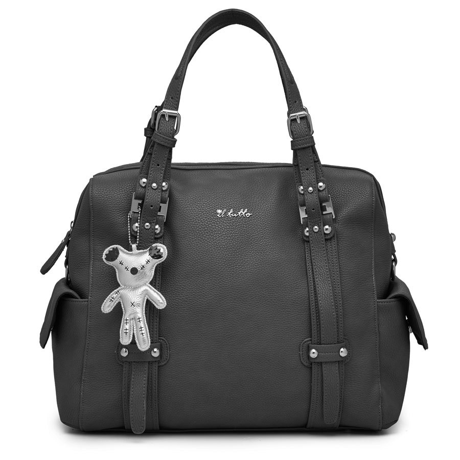 Il Tutto Nico Black Tote Nappy Bag
