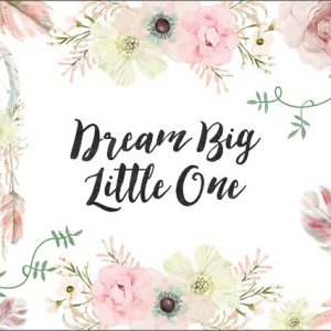 Ginger Monkey Dream Big Little One Boho Print