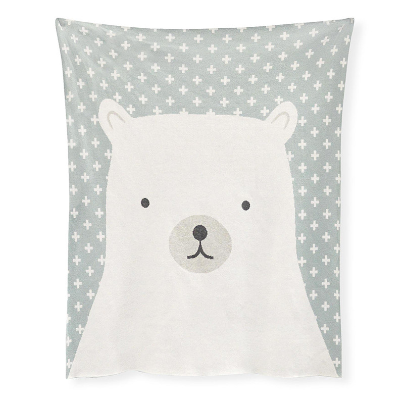 Madras Link Polar Bear Throw