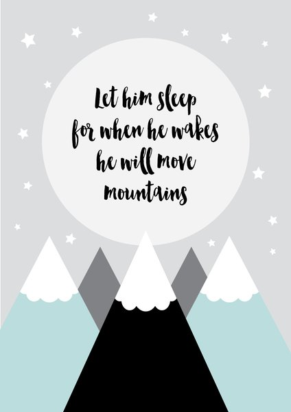 Ginger Monkey Move Mountains Print