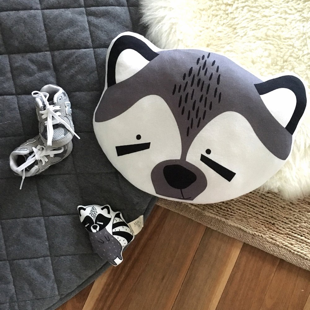 Mister Fly Raccoon Cushion