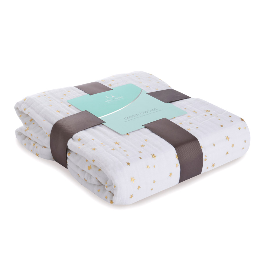 Aden + Anais Metallic Gold Dream Blanket