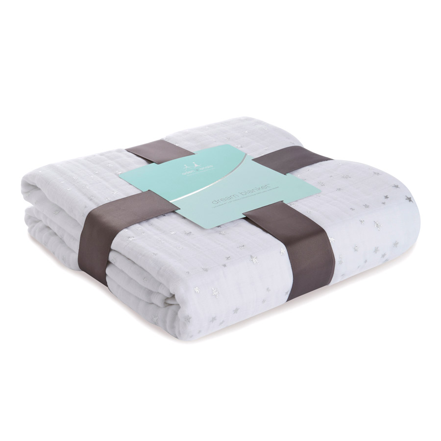 Aden + Anais Metallic Silver Dream Blanket