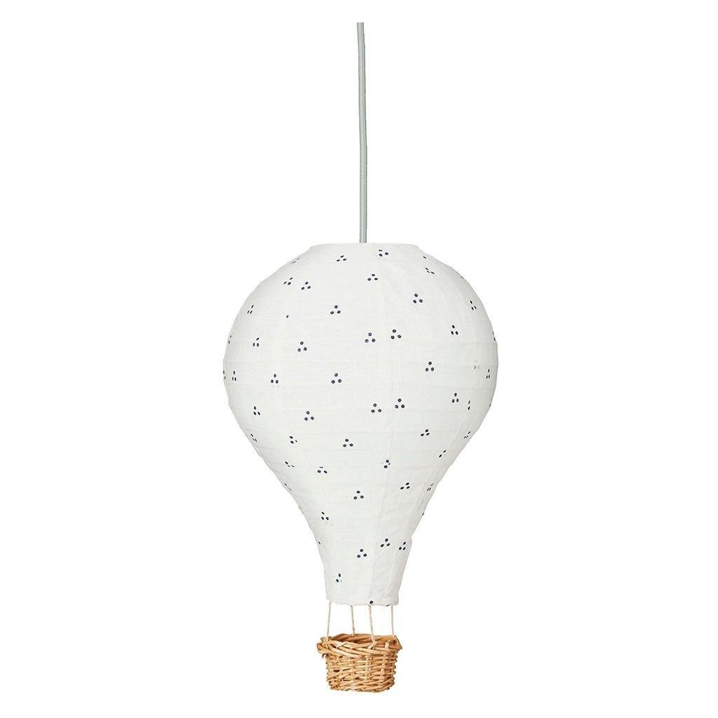Cam Cam Hot Air Balloon Navy Dots Lamp Shade